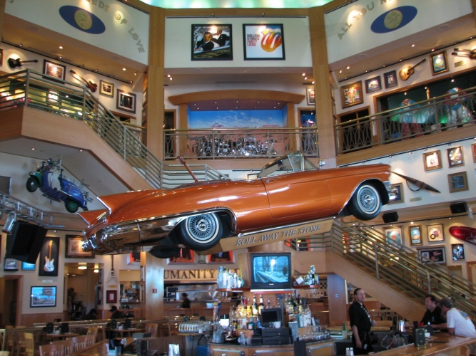 Floating Car at the Hard Rock Cafe, Universal Studio.jpg